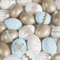 Servietten 33x33 cm - Precious eggs