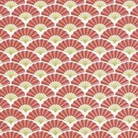 Servietten 33x33 cm - Silk pattern red