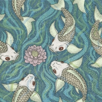 Servietten 33x33 cm - Japanischer Teich