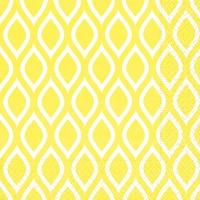 Servietten 33x33 cm - Lemon pattern