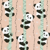Servietten 33x33 cm - Climbing pandas