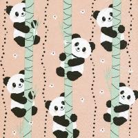Servietten 33x33 cm - Kletternde Pandas