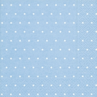 Servietten 33x33 cm - Dots light blue