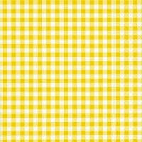 Servietten 33x33 cm - Neu Vichy gelb