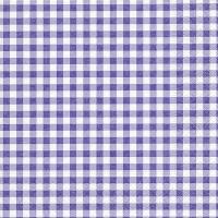 Servietten 33x33 cm - Neu Vichy Lavendel