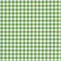 Servietten 33x33 cm - Neu Vichy Wald grün