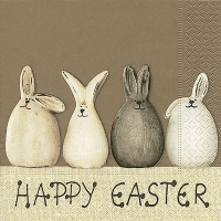 Servietten 33x33 cm - Happy Easter bunnies