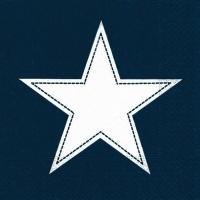 Servietten 33x33 cm - Simply Star dark blue