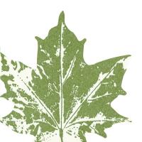 Gestanzte Servietten - Ahornblatt grün