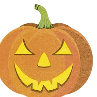 Gestanzte Servietten - Halloween pumpkin