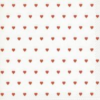 Servietten 33x33 cm - Augenblicke Petits coeurs rot