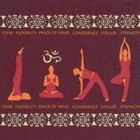 Servietten 33x33 cm - Yoga