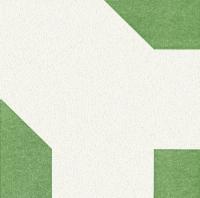 Airlaid Dinner Servietten - Origami Serviette Seerose weiß/grün