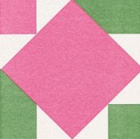 Airlaid Dinner Servietten - Origami Serviette Seerose pink/grün
