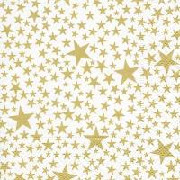 Servietten 25x25 cm - Sternchen weiß/gold