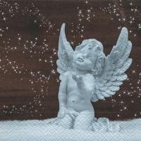 Servietten 25x25 cm - Engel im Schnee