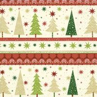 Servietten 25x25 cm - Einfache Weihnachtsbäume