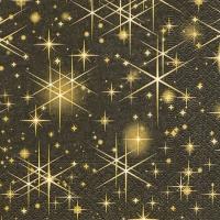 Servietten 25x25 cm - Glitzernde Sterne