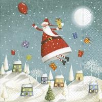 Servietten 25x25 cm - Hovering Santa