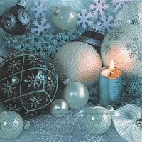 Servietten 33x33 cm - Baubles in light