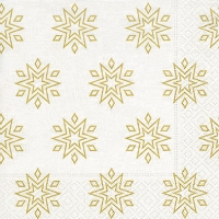 Servietten 33x33 cm - Starry white/gold