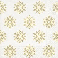 Servietten 33x33 cm - Sternenklar weiß/gold