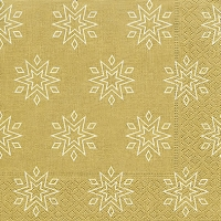 Servietten 33x33 cm - Starry gold