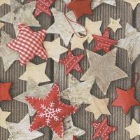 Servietten 33x33 cm - Handgemachte Sterne
