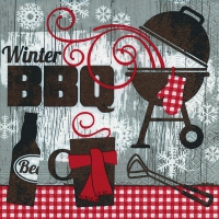 Servietten 33x33 cm - Winter BBQ