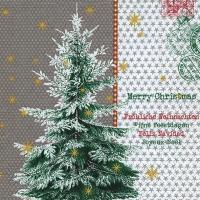 Servietten 33x33 cm - Fijne feestdagen