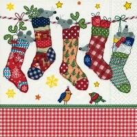 Servietten 33x33 cm - Genähte Socken