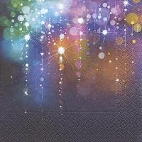 Servietten 33x33 cm - Violetter Regen