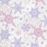 Servietten 33x33 cm - Zarte Sterne rosé
