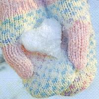 Servietten 33x33 cm - Pastellfarbener Handschuh