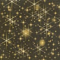Servietten 33x33 cm - Glitzernde Sterne