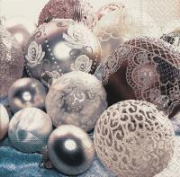 Servietten 33x33 cm - White balls