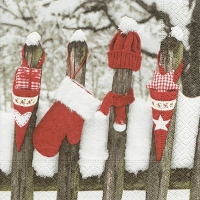 Servietten 33x33 cm - Outdoor christmas