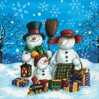 Lunch Servietten Snowman family