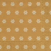 Servietten 33x33 cm - Snowflakes gold