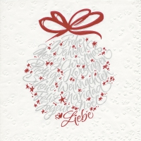 Servietten 33x33 cm - Moments Calligraphic bauble