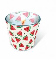 Glaskerze - Melon pieces
