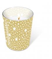 Glaskerze - Glaskerze Starlets gold