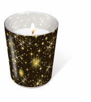 Glaskerze - Glaskerze Glittering stars