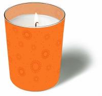 Glaskerze - Momente uni orange