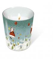 Glaskerze - Glaskerze Schwebender Weihnachtsmann