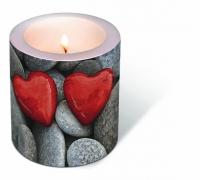 Dekorkerze Love stones