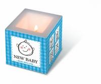 Dekorkerze New baby blue