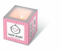 Dekorkerze New baby pink