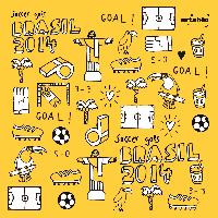 Servietten 33x33 cm - Soccer Icons
