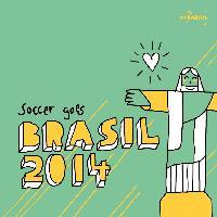 Servietten 33x33 cm - Jesus Ioves Soccer
